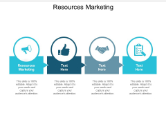 Resources Marketing Ppt PowerPoint Presentation Layouts Vector Cpb