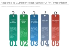 Response To Customer Needs Sample Of Ppt Presentation