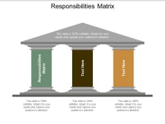 Responsibilities Matrix Ppt Powerpoint Presentation Gallery Slides Cpb