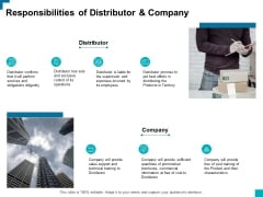 Responsibilities Of Distributor And Company Ppt PowerPoint Presentation Styles Icon