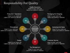 Responsibility For Quality Ppt PowerPoint Presentation Inspiration Designs