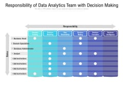 Responsibility Of Data Analytics Team With Decision Making Ppt PowerPoint Presentation File Outfit PDF