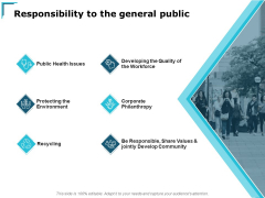 Responsibility To The General Public Ppt PowerPoint Presentation Professional Guide