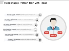 Responsible Person Icon With Tasks Ppt PowerPoint Presentation File Styles PDF