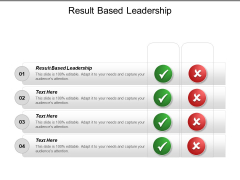 Result Based Leadership Ppt PowerPoint Presentation Ideas Infographics Cpb
