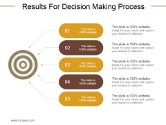 Results For Decision Making Process Ppt PowerPoint Presentation Outline