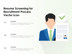 Resume Screening For Recruitment Process Vector Icon Ppt PowerPoint Presentation Icon Outline PDF