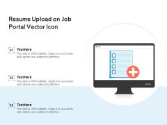 Resume Upload On Job Portal Vector Icon Ppt PowerPoint Presentation Summary Graphics Design PDF