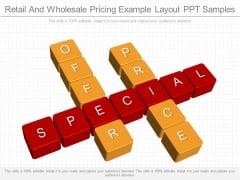 Retail And Wholesale Pricing Example Layout Ppt Samples