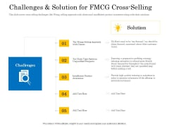 Retail Cross Selling Techniques Challenges And Solution For FMCG Cross Selling Topics PDF
