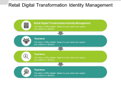 Retail Digital Transformation Identity Management Ppt PowerPoint Presentation Infographic Template Demonstration Cpb