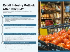 Retail Industry Outlook After Covid 19 Ppt PowerPoint Presentation Infographics Elements PDF