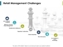 Retail Management Challenges Ppt PowerPoint Presentation Summary Slide Portrait
