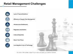 Retail Management Challenges Slide Regulatory Implications Ppt PowerPoint Presentation Gallery Background Designs