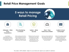 Retail Price Management Goals Ppt PowerPoint Presentation Professional Graphics Download