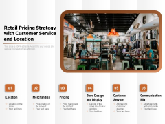 Retail Pricing Strategy With Customer Service And Location Ppt PowerPoint Presentation Icon Good PDF