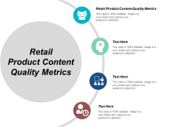 Retail Product Content Quality Metrics Ppt PowerPoint Presentation File Gridlines Cpb