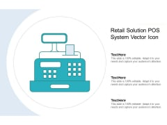 Retail Solution Pos System Vector Icon Ppt PowerPoint Presentation Styles Guidelines