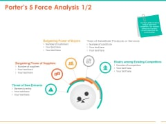 Retail Space Porters 5 Force Analysis Suppliers Ppt Slides Outfit PDF
