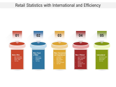 Retail Statistics With International And Efficiency Ppt Powerpoint Presentation Summary Designs Download Pdf