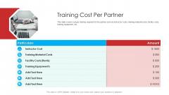 Retailer Channel Partner Boot Camp Training Cost Per Partner Inspiration PDF