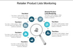 Retailer Product Lists Monitoring Ppt PowerPoint Presentation Ideas Format Cpb