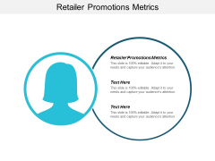 Retailer Promotions Metrics Ppt Powerpoint Presentation Summary Master Slide Cpb