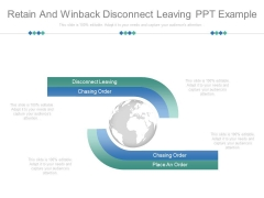 Retain And Winback Disconnect Leaving Ppt Example