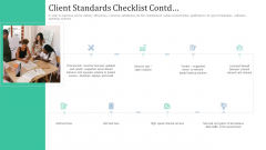 Retaining Clients Improving Information Technology Facilities Client Standards Checklist Contd Rules PDF