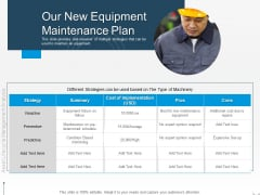 Rethink Approach Asset Lifecycle Management Our New Equipment Maintenance Plan Mockup PDF