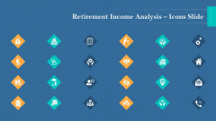 Retirement Income Analysis Icons Slide Pictures PDF