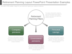 Retirement Planning Layout Powerpoint Presentation Examples