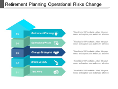 Retirement Planning Operational Risks Change Strategies Brand Loyalty Ppt PowerPoint Presentation Gallery Influencers