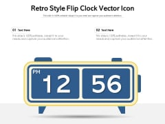 Retro Style Flip Clock Vector Icon Ppt PowerPoint Presentation Gallery Example Introduction PDF