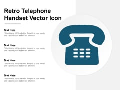 Retro Telephone Handset Vector Icon Ppt Powerpoint Presentation Model Design Ideas