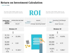 Return On Investment Calculation Management Ppt Powerpoint Presentation Infographic Template Tips