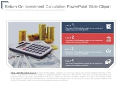 Return On Investment Calculation Powerpoint Slide Clipart