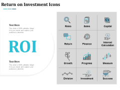 Return On Investment Icons Ppt Powerpoint Presentation Gallery Brochure