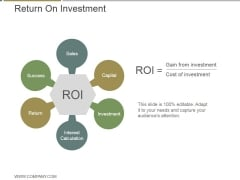 Return On Investment Ppt PowerPoint Presentation Ideas