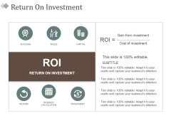 Return On Investment Ppt PowerPoint Presentation Model Guide