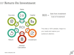 Return On Investment Ppt PowerPoint Presentation Slide Download