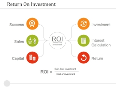 Return On Investment Ppt PowerPoint Presentation Styles Format
