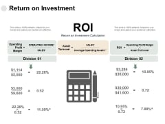 Return On Investment Profit Margin Ppt PowerPoint Presentation Summary Example Topics