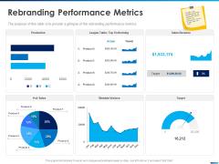 Revamping Firm Presence Through Relaunching Rebranding Performance Metrics Sales Ppt PowerPoint Presentation Ideas Designs Download PDF
