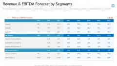 Revenue And EBITDA Forecast By Segments Graphics PDF
