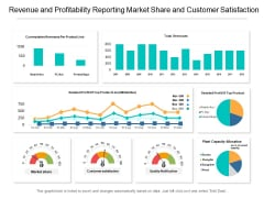 Revenue And Profitability Reporting Market Share And Customer Satisfaction Ppt PowerPoint Presentation Styles Format Ideas