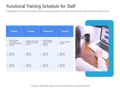 Revenue Cycle Management Deal Functional Training Schedule For Staff Inspiration PDF