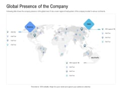 Revenue Cycle Management Deal Global Presence Of The Company Infographics PDF