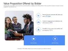 Revenue Cycle Management Deal Value Proposition Offered By Bidder Ppt Infographics Graphic Images PDF