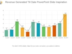 Revenue Generated Till Date Powerpoint Slide Inspiration